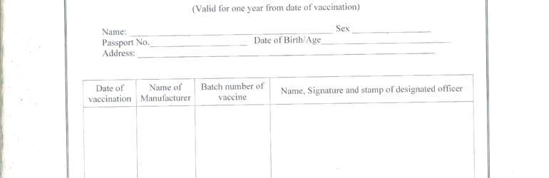 Oral Polio Vaccination Certificate India