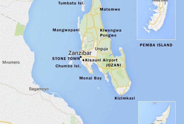 Zanzibar Pemba Map Chalo Africa