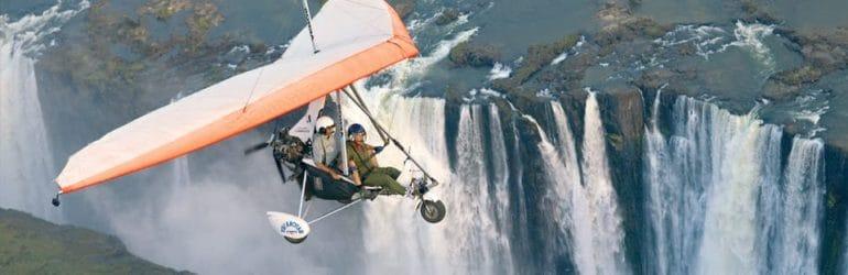 Microlight flights over Victoria Falls.