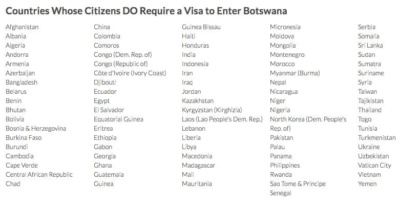 Botswana Visa For Indian Citizens Requirements From India Chalo Africa