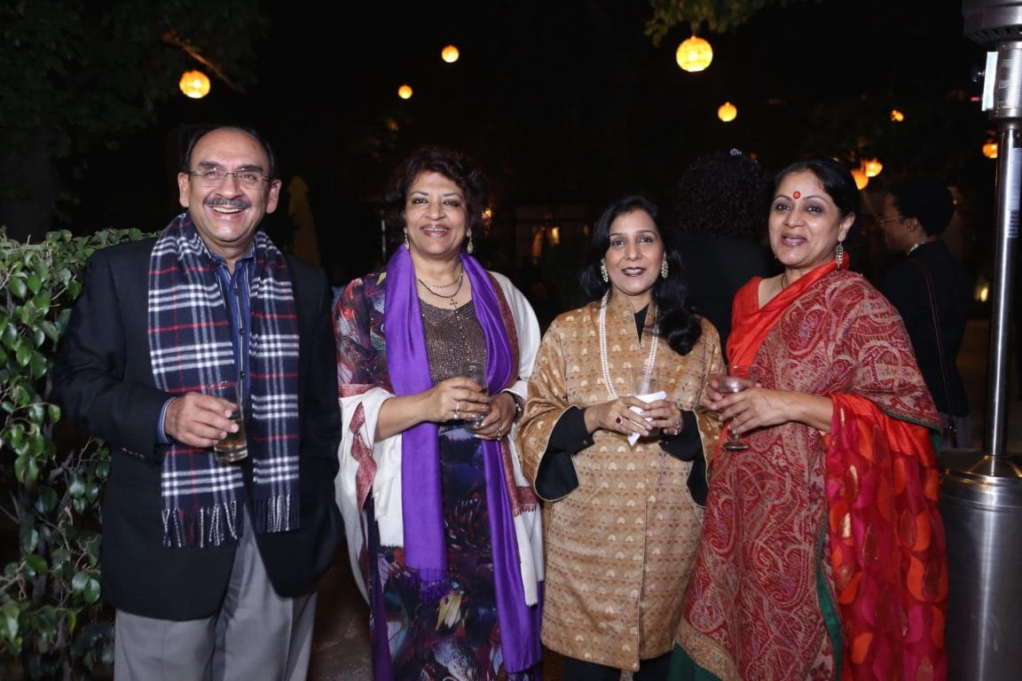 Ajay S. Shriram (Chairman - DCM Shriram), Kumkum Sen, Vandana Shriram, and Smita Srivastava (Co-Founder, Chalo Africa)