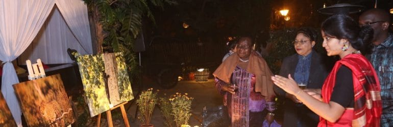 H.E. Florence Weche of Kenya at the auction