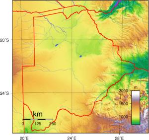 Botswana Topography