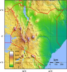 Kenya Topography