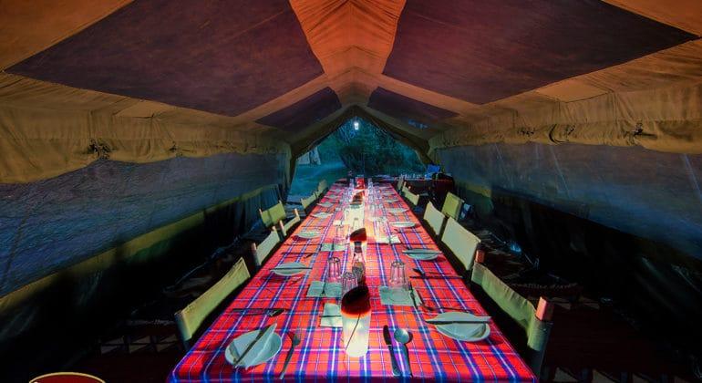 Ol Kinyei Adventure Camp Dining