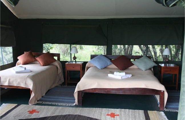 Porini Rhino Camp, Tent interiors