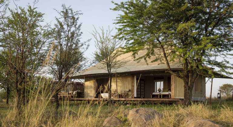 Sayari Camp Guest Tent Bedroom Exterior
