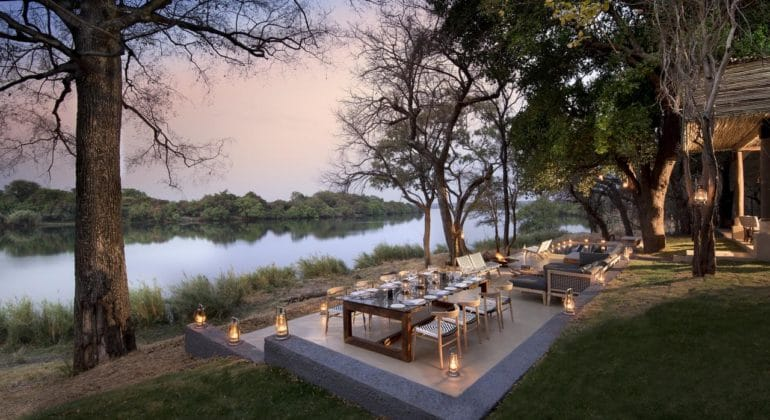 Matetsi River House Outdoor Dining