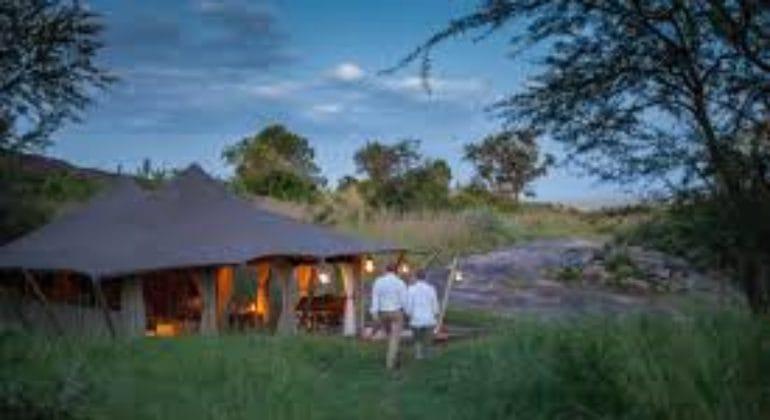 Serengeti Pioneer Camp Outside Tent