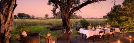 Xudum Okavango Delta Camp Dining