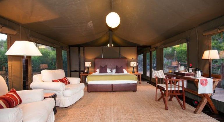 Hillsnek Safari Camp Tent Interior