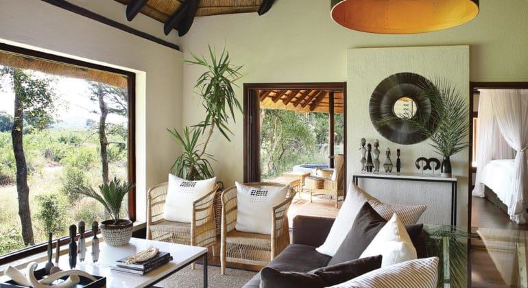 Londolozi Tree Camp Suite Lounge