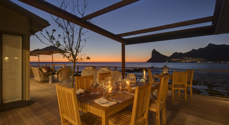 Tintswalo Atlantic Outdoor Dining