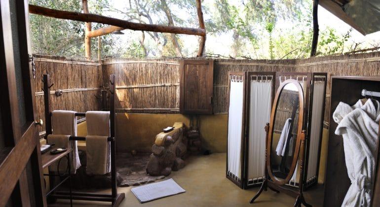 Chongwe River Camp Tents Bathroom
