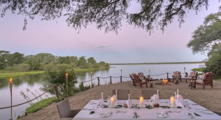 Chongwe River Camp Tents Dining