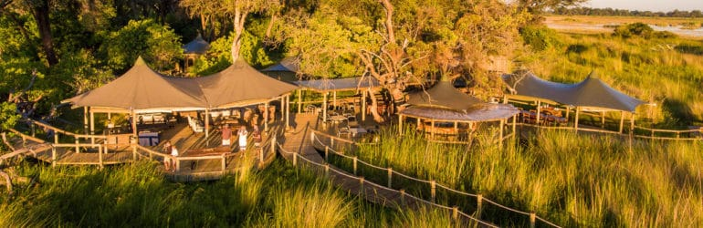 Little Vumburu Camp Aerial View