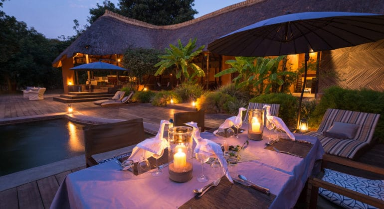 Luangwa River Camp Outdoor Dining