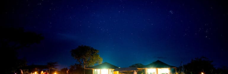Sanctuary Serengeti Migration Camp View At Night