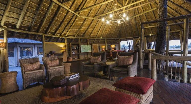 Savuti Camp Living Area