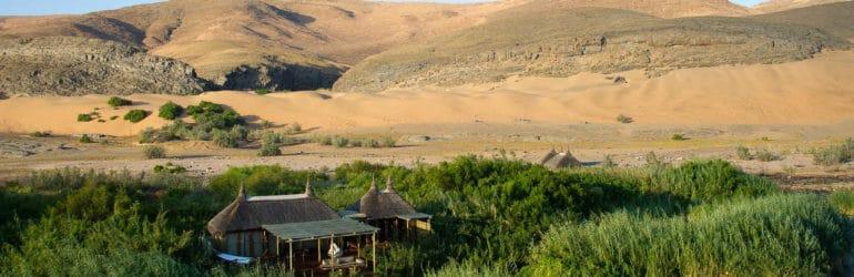 Serra Cafema Camp Aerial View