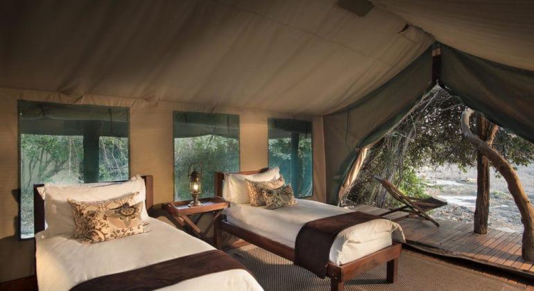 Kanga Camp Twin Bedroom