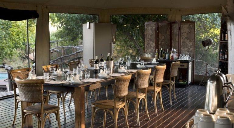 Linyanti Ebony Dining Area
