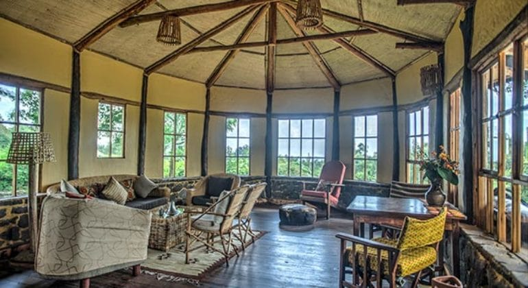 Mount Gahinga Lodge Sunroom