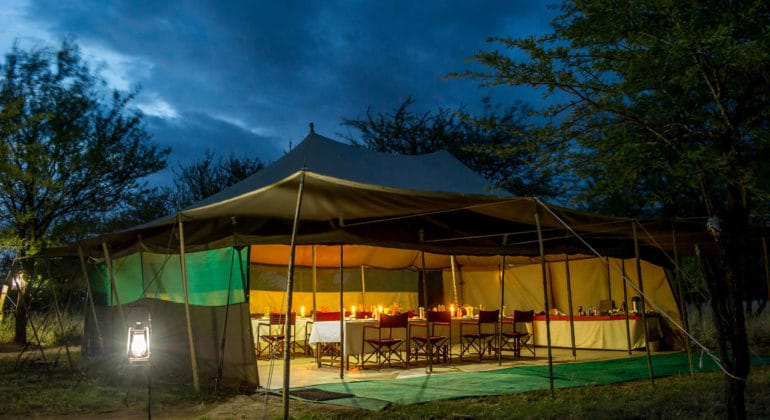 Ndutu Wilderness Camp Dining