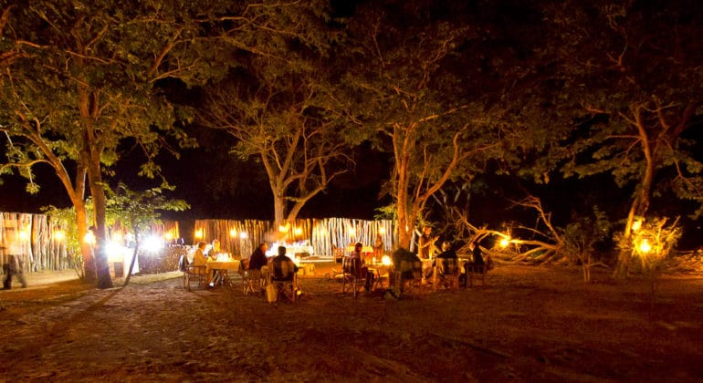 Ngoma Safari Lodge Bush Dinner