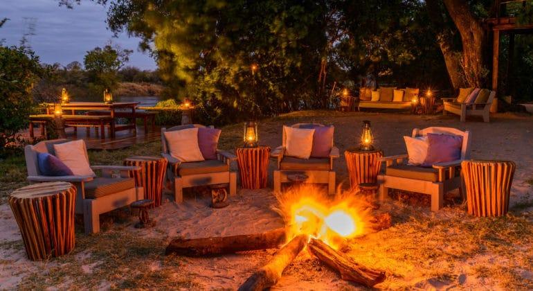 Sindabezi Island Fireplace