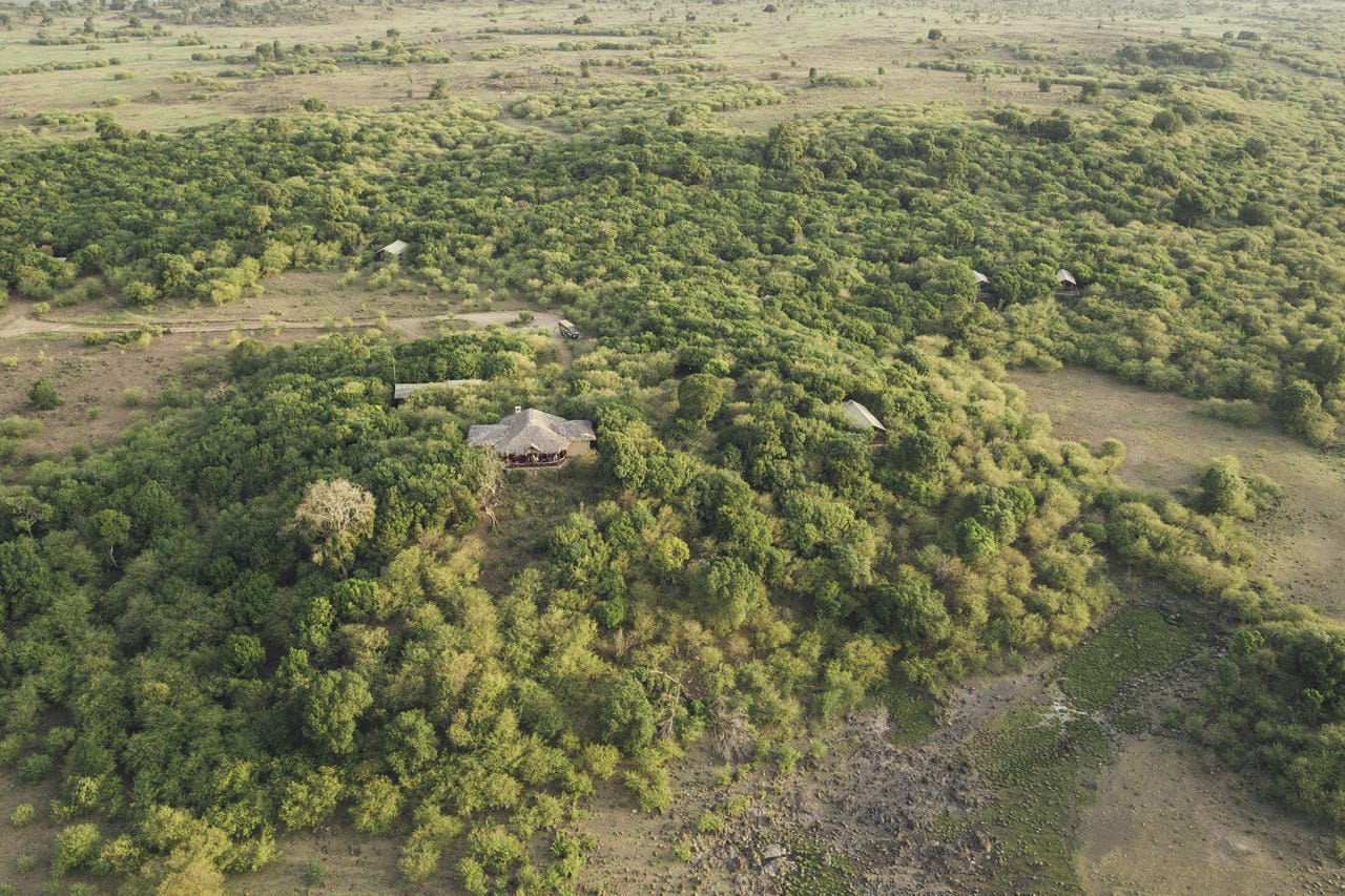 Tangulia Mara Camp Aerial View
