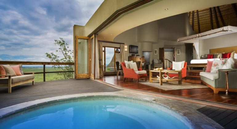 Ulusaba Cliff Lodge Jacuzzi