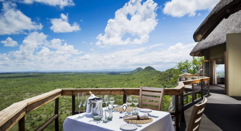 Ulusaba Cliff Lodge Private Dining