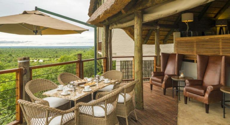 Victoria Falls Safari Club Deck