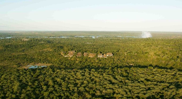 Victoria Falls Safari Lodge Aerial View