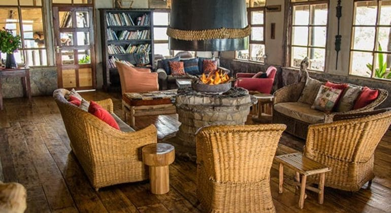 Virunga Lodge Lounge