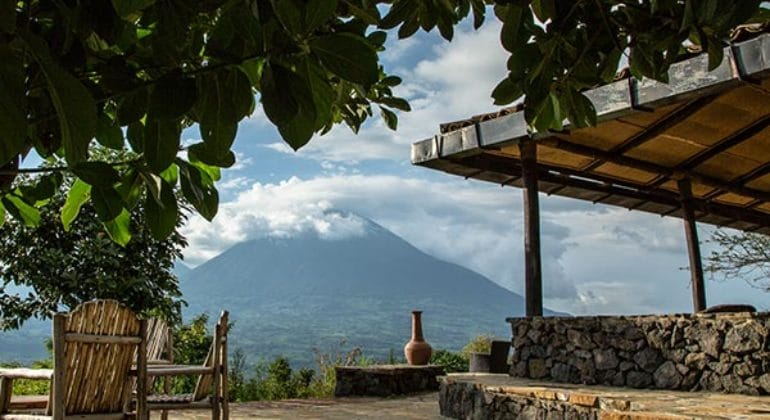 Virunga Lodge Terrace View