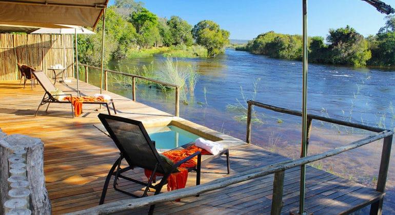 Zambezi Sands River Camp Deck