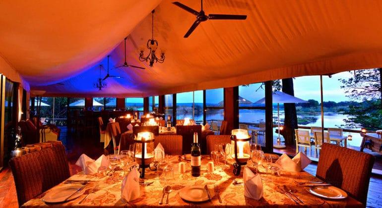 Zambezi Sands River Camp Dining