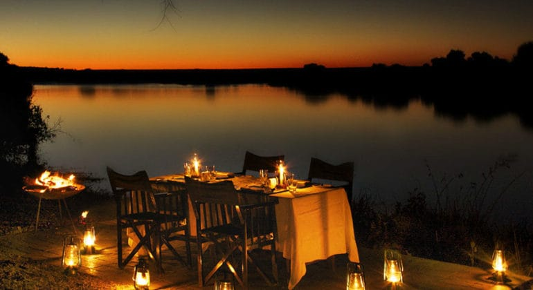 Zambezi Sands River Camp Dining On The River Banks