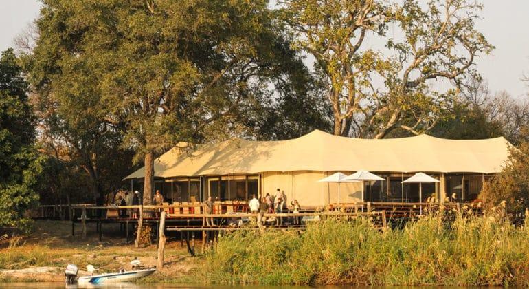 Zambezi Sands River Camp View
