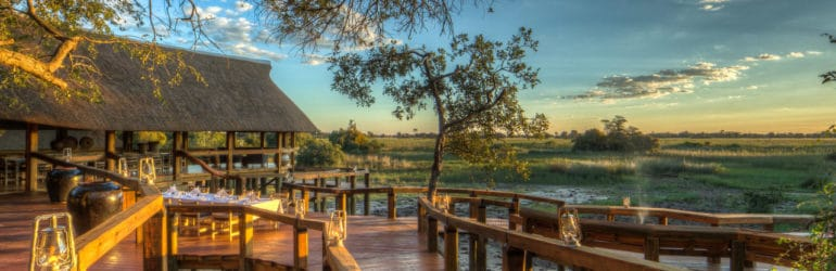 Camp Okavango Deck View
