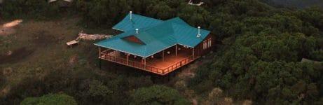 Gelai Mountain Camp Aerial View