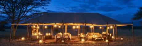 Legendary Serengeti Camp Tent View