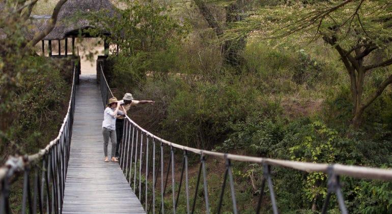 Ololo Safari Lodge Swing Bridge