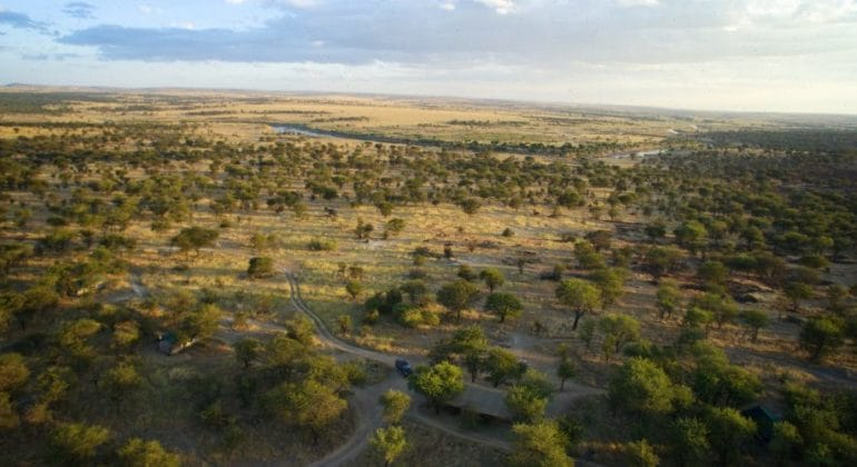 Serengeti Mobile Lamai Aerial View