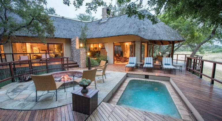 Shumbalala Game Lodge Poolside