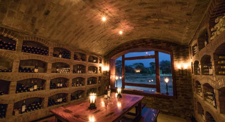 Shumbalala Game Lodge Wine Cellar