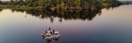 Xugana Island Lodge Aerial View