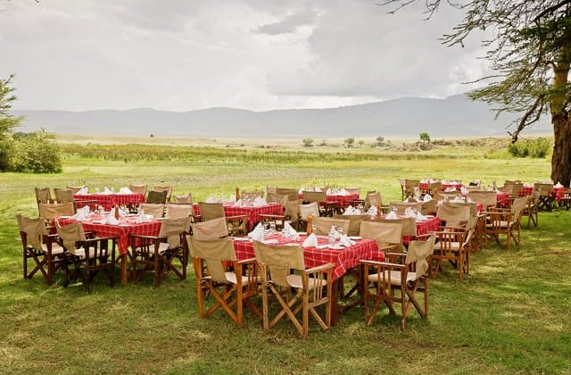 Ngorongoro Sopa Lodge Outdoor Dining